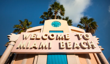 Sign reading welcome to Miami Beach